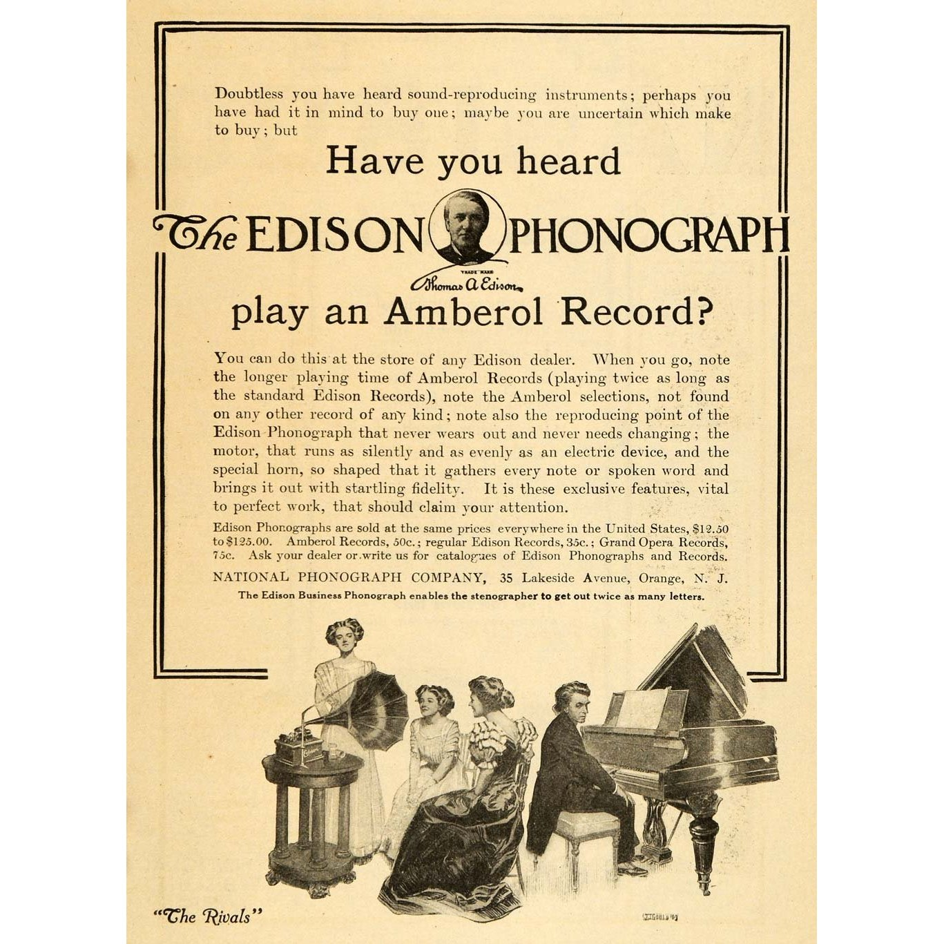Amberol Records Advertisement